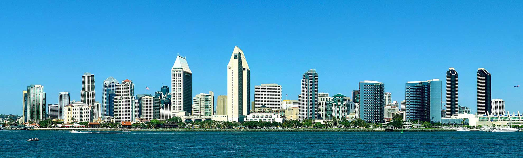 Photo San Diego California skyline and bayfront